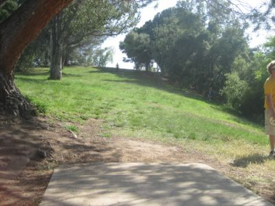 Coyote Point at Lake Casitas, Main course, Hole 18 Tee pad