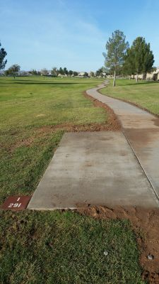 Maricopa Meadows, Main course, Hole 1 Long tee pad