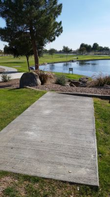 Maricopa Meadows, Main course, Hole 2 Long tee pad