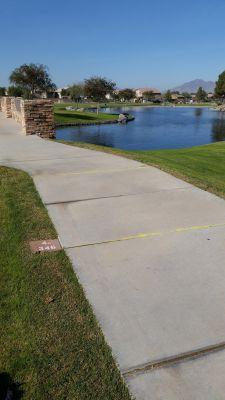 Maricopa Meadows, Main course, Hole 4 Long tee pad