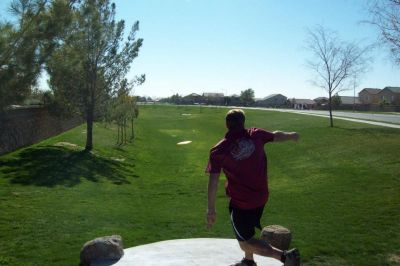 Maricopa Meadows, Main course, Hole 13 Tee pad