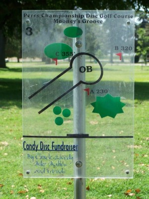 Mooney Grove Park, Perry Championship, Hole 3 Hole sign