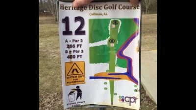 Heritage Park, Main course, Hole 12 Hole sign