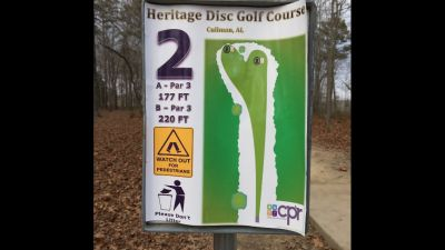 Heritage Park, Main course, Hole 2 Hole sign