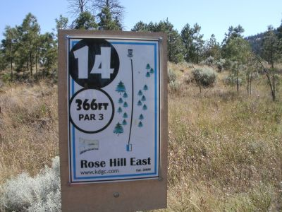 Rose Hill, The Black Rose, Hole 14 Hole sign