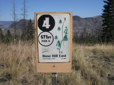 Rose Hill, The Black Rose, Hole 4 Hole sign