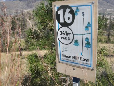 Rose Hill, The Black Rose, Hole 16 Hole sign