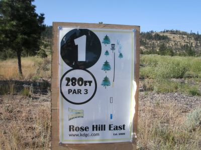 Rose Hill, The Black Rose, Hole 1 Hole sign