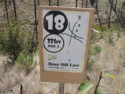 Rose Hill, The Black Rose, Hole 18 Hole sign