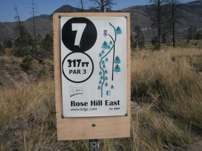 Rose Hill, The Black Rose, Hole 7 Hole sign