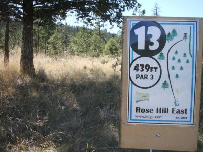 Rose Hill, The Black Rose, Hole 13 Hole sign