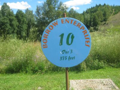 Clearwater DGC, Clearwater, Hole 10 Hole sign