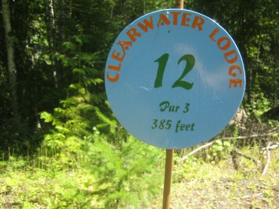 Clearwater DGC, Clearwater, Hole 12 Hole sign