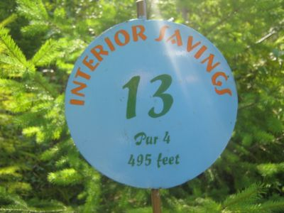 Clearwater DGC, Clearwater, Hole 13 Hole sign