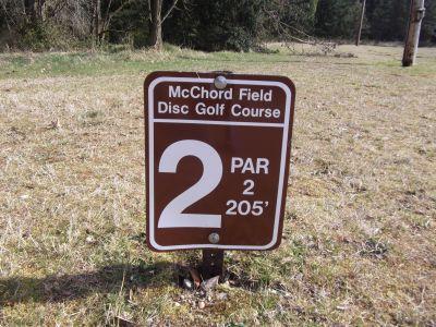 McChord Air Field DGC, Main course, Hole 2 Hole sign