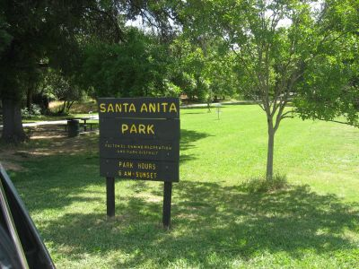 Santa Anita Park, Main course, Hole 1 Hole sign