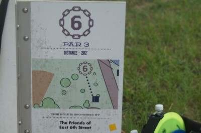 Springfield DGC, Main course, Hole 6 Hole sign