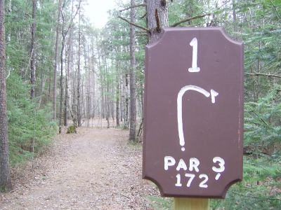 Almon Park, Main course, Hole 1 Tee pad