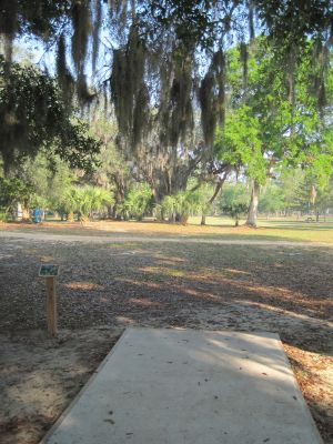 Under The Oaks, Main course, Hole 7 Tee pad