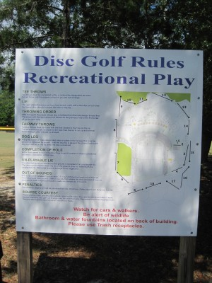 Freeport Regional Sports Complex, Chain Dragon, Hole 1 Hole sign