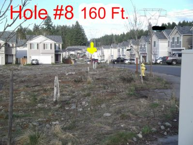 The Cove Neighborhood DGC, Main course, Hole 8 Tee pad