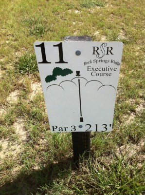 Rock Springs Ridge, Executive Course, Hole 11 Hole sign