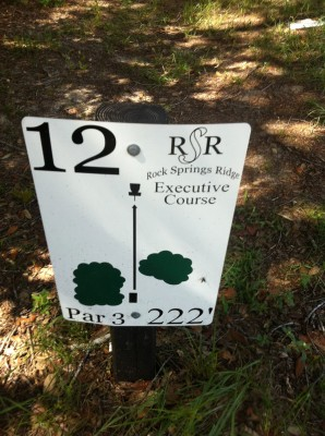 Rock Springs Ridge, Executive Course, Hole 12 Hole sign