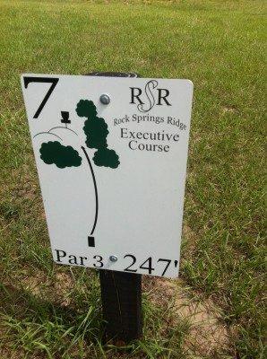 Rock Springs Ridge, Executive Course, Hole 7 Hole sign