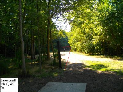 Earl W. Brewer Park, North course, Hole 10 Tee pad