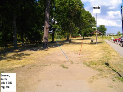 Earl W. Brewer Park, North course, Hole 1 Tee pad