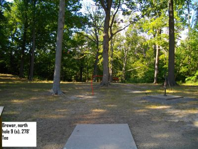Earl W. Brewer Park, North course, Hole 9 Short tee pad