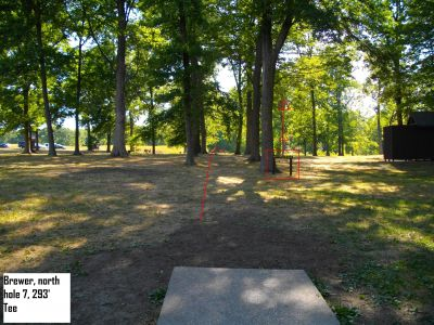 Earl W. Brewer Park, North course, Hole 7 Tee pad