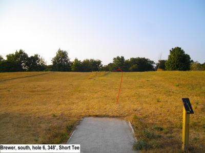 Earl W. Brewer Park, South course, Hole 6 Short tee pad