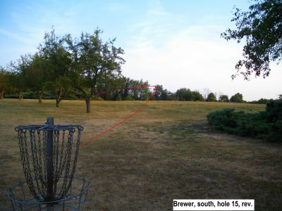 Earl W. Brewer Park, South course, Hole 15 Reverse (back up the fairway)