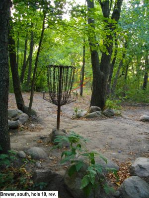 Earl W. Brewer Park, South course, Hole 10 Reverse (back up the fairway)
