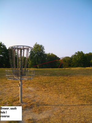 Earl W. Brewer Park, South course, Hole 1 Reverse (back up the fairway)