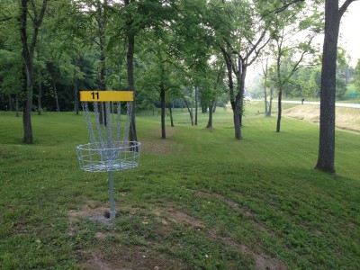 Wood County Veterans Memorial Park, Main course, Hole 11 Reverse (back up the fairway)