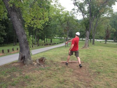 Wood County Veterans Memorial Park, Main course, Hole 7 Short tee pad