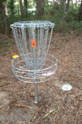 Jonesville DGC, Main course, Hole 4 Long tee pad