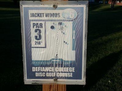 Defiance College, Main course, Hole 6 Hole sign