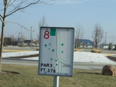 Settler's Park, Main course, Hole 8 Tee pad