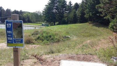 Silver Creek Recreational Area, The Creek, Hole 17 Long tee pad