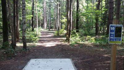 Silver Creek Recreational Area, The Creek, Hole 10 Long tee pad