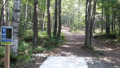 Silver Creek Recreational Area, The Creek, Hole 3 Long tee pad