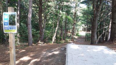 Silver Creek Recreational Area, The Creek, Hole 14 Long tee pad