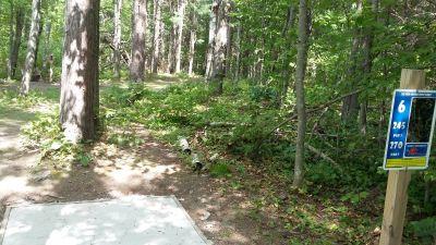Silver Creek Recreational Area, The Creek, Hole 6 Long tee pad