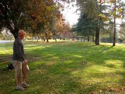 Yucaipa Regional Park, Main course, Hole 9 Tee pad