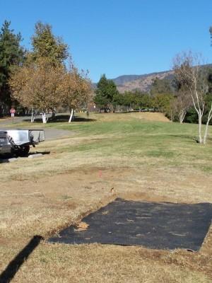 Yucaipa Regional Park, Main course, Hole 1 Tee pad
