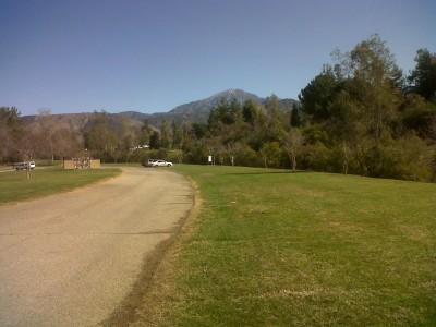 Yucaipa Regional Park, Main course, Hole 18 Tee pad