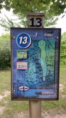 Purdue North Central, Main course, Hole 13 Hole sign
